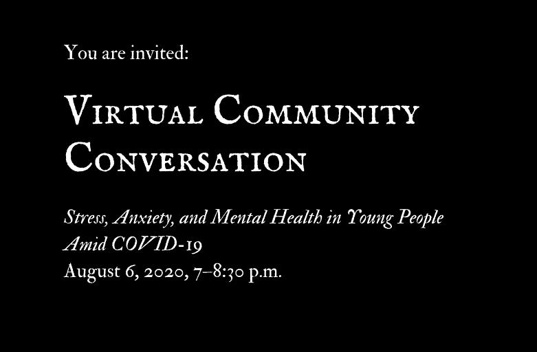 Virtual Community Forum on Mental Health